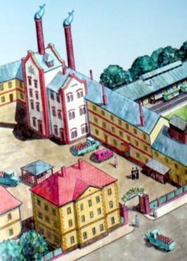 Ilustrace pivovaru