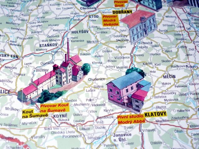 Napsali O Nas 2009 Nova Mapa Pivovary Ceske Republiky
